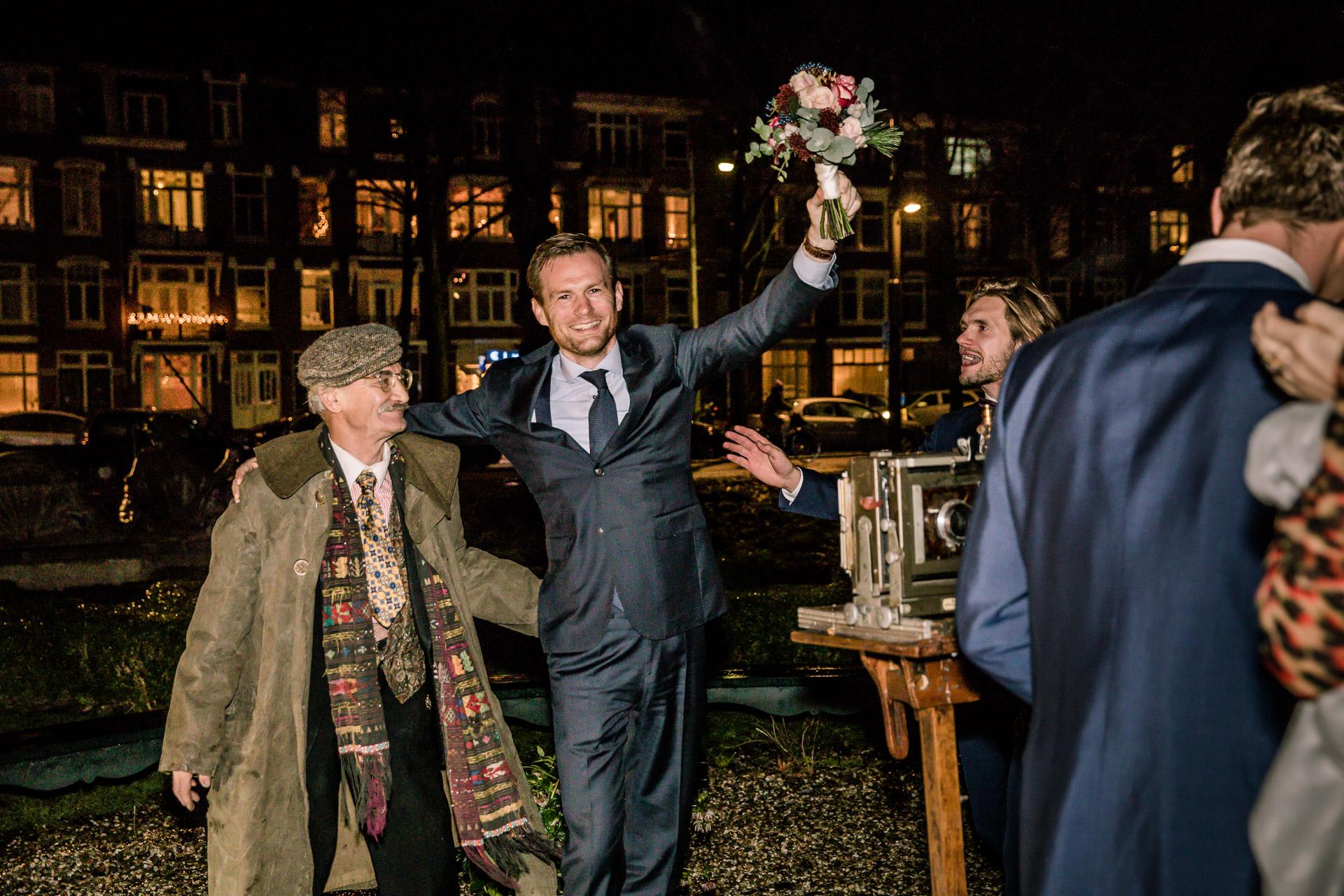 Winter bruiloft in Amsterdam
