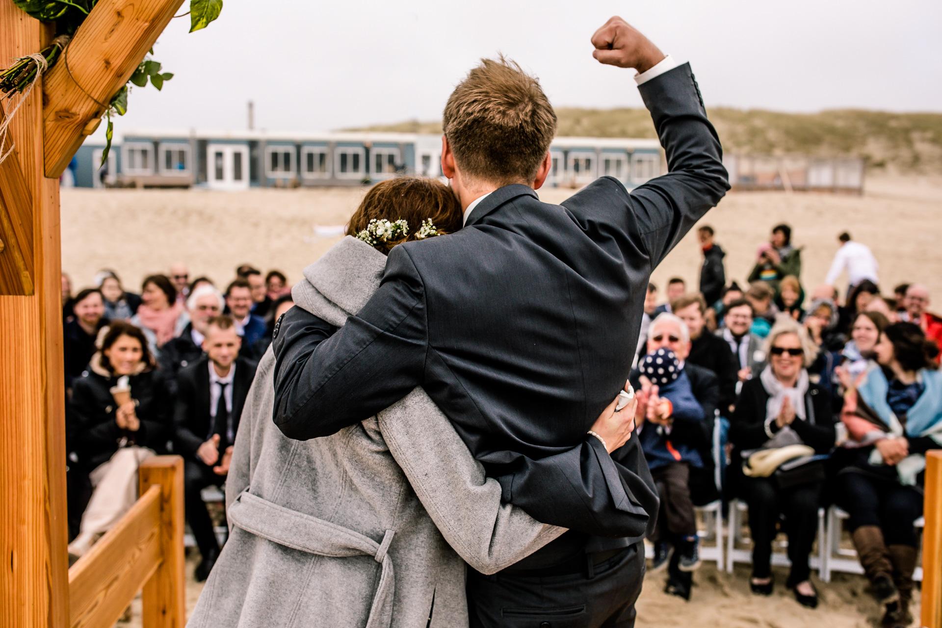 Trouwen op het strand van Texel