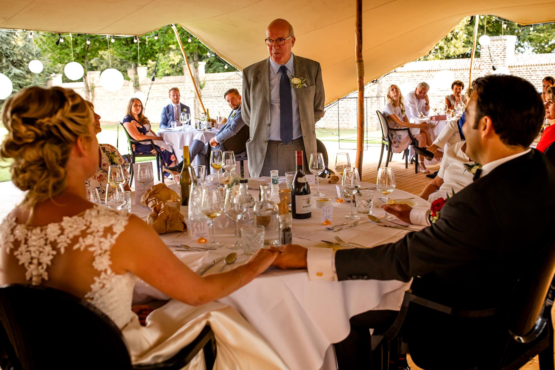 Speeches op een bruiloft